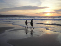 sunset walks on hayle beack